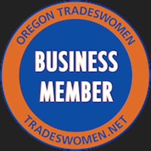 Oregon Tradeswomen Business Member badge